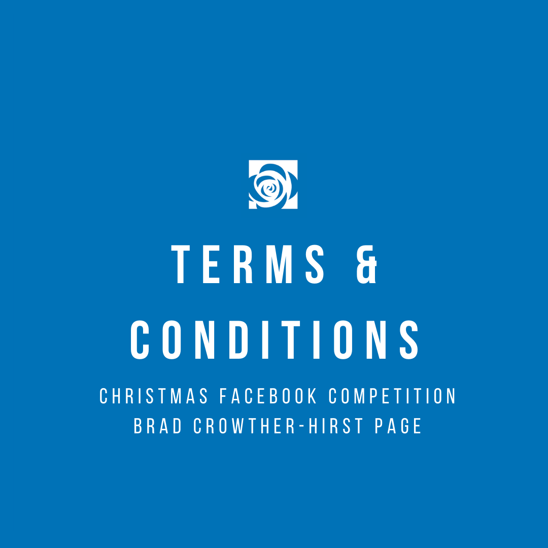 Facebook Competition T&C for Brad Crowther-Hirst Page